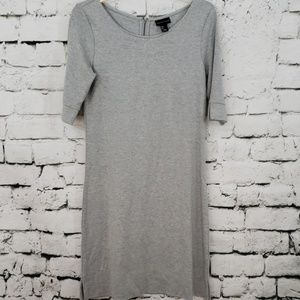 Adrienne Vittadini soft gray loose fit midi dress